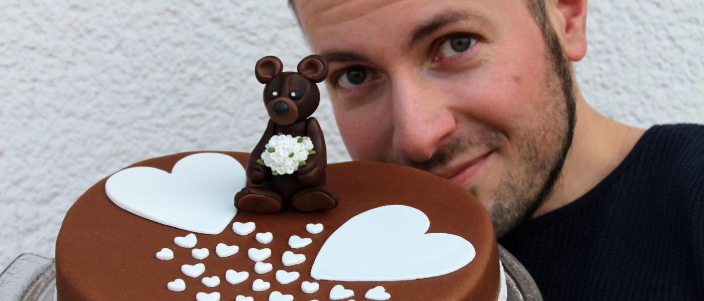 Valentins-Schokoladen-Torte