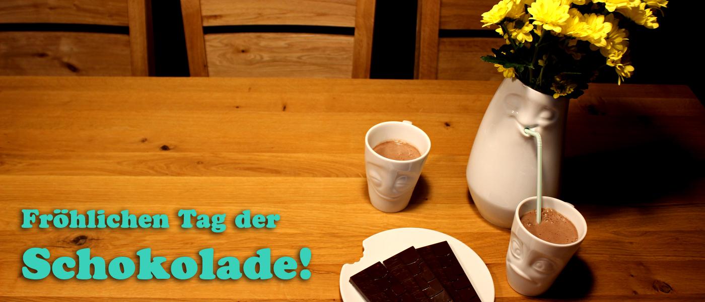 Fröhlichen Tag der Schokolade!